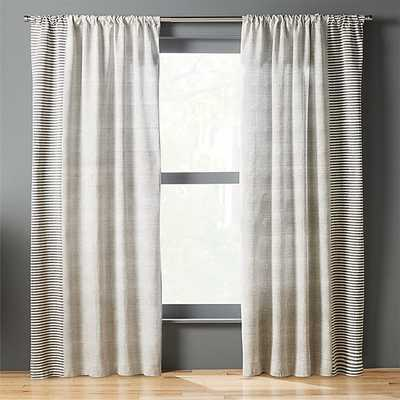 block printed stripe curtain panel - CB2