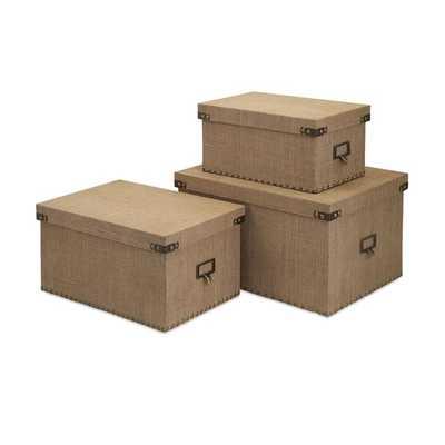Corbin Storage Boxes - Set of 3 - Mercer Collection