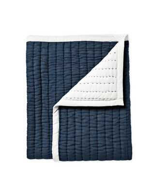 Mini Cabin Quilt - Navy - Serena and Lily