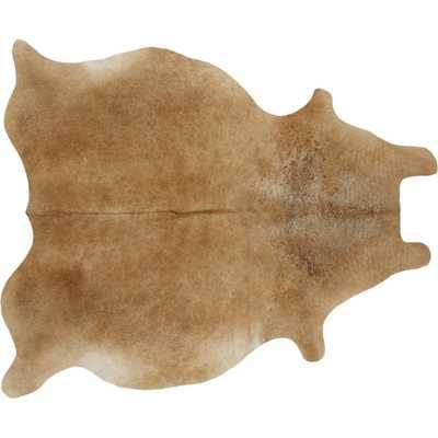cowhide brown rug 5'x8' - CB2