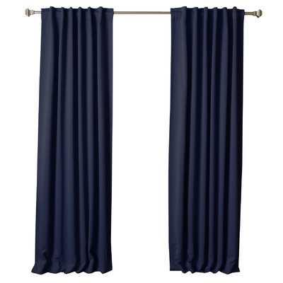 Sweetwater Room Darkening Thermal Blackout Curtain Panels  - 108'' - Navy - Wayfair