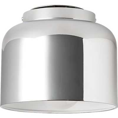 Bell chrome flush mount lamp - CB2