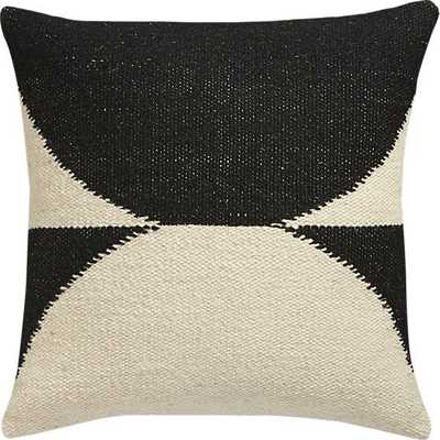 "Reflect 20"" pillow with down-alternative insert - Black / Natural - CB2"