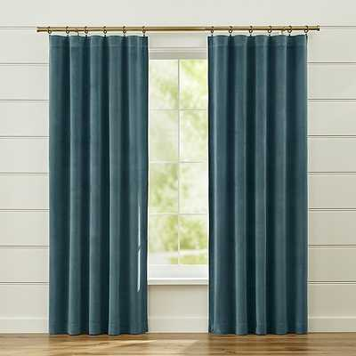 "Windsor Sterling Blue Curtains - 96""L - Crate and Barrel"