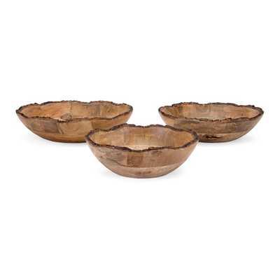 Damari Wood Bowls - Set of 3 - Mercer Collection