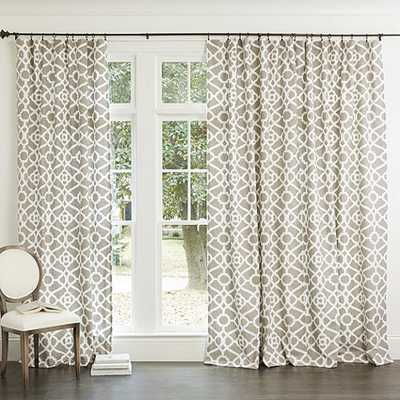 "Meyers Drapery Panel - 52""W X 96"" L - Taupe - Ballard Designs"