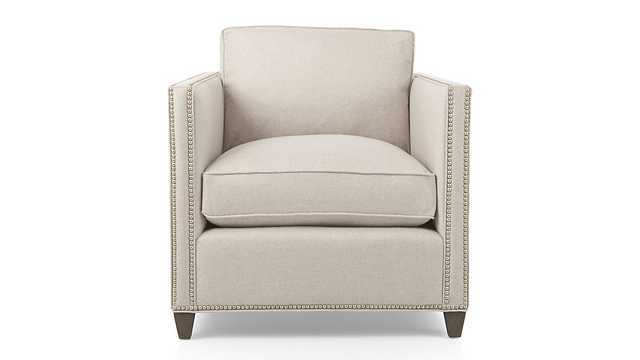 Dryden Chair with Nailheads - Flax - Crate and Barrel