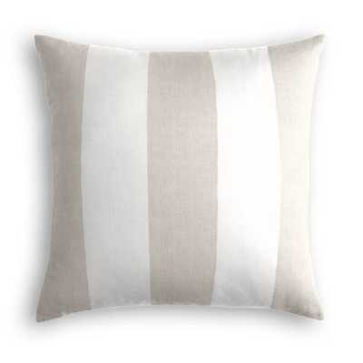 Throw Pillow  Band Stand - Oyster - Down Insert - Loom Decor