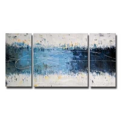 'Wake Up ' Hand - Painted 3 - Piece Gallery - Wrapped Canvas Art Set - Overstock