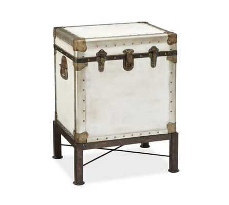 Ludlow Trunk Side Table - White - Pottery Barn