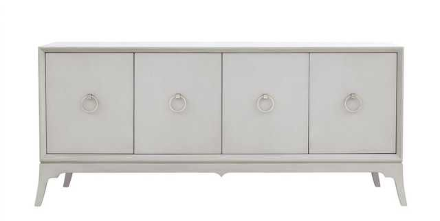 Bennett Entertainment Console in Shell Grey - Burke Decor