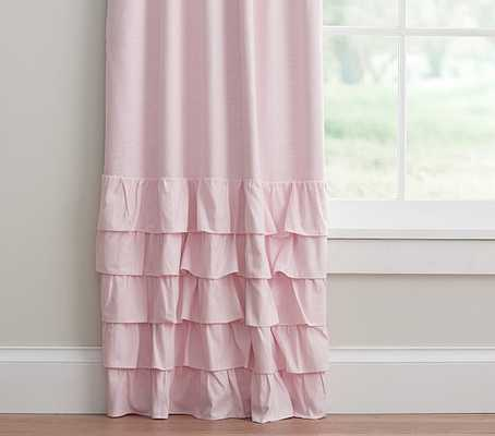 Evelyn Linen Blend Ruffle Bottom Blackout Panel - Pottery Barn Kids