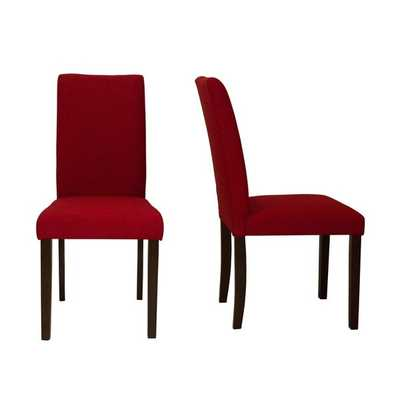 Shino Crimson Linen 39-inch Set of 2 Dining Chairs - Overstock