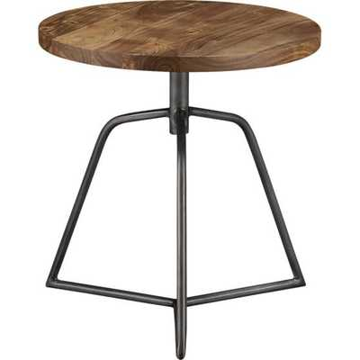 Dot acacia side table-stool - CB2