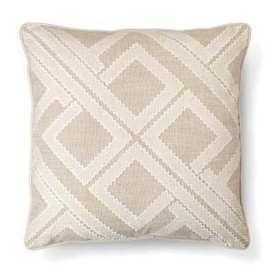 "Thresholdâ""¢ Tan Geo Patchwork Toss Pillow - 20"" - Polyester fill - Target"