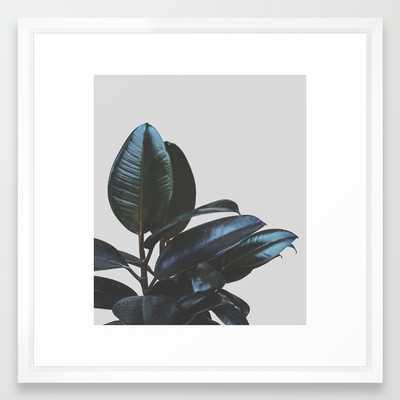 """Botanical Art V4 Art Print - 22"""" x 22"""" - Vector White Frame - Society6"""