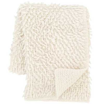 MARA KNIT IVORY THROW - Pine Cone Hill
