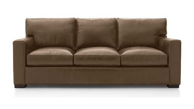 Axis II Leather 3-Seat Sofa - Crate and Barrel