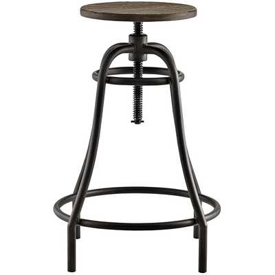 TOLL METAL BAR STOOL IN BROWN - Modway Furniture