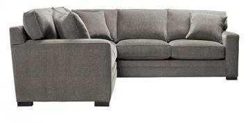 LINDON UPHOLSTERED 2-PIECE SECTIONAL - Tori Platinum - Home Decorators