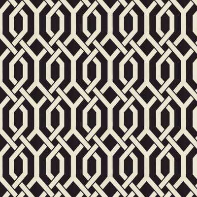 Entangled Black Fabric - Loom Decor
