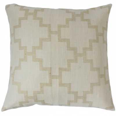 """Hollace Geometric Pillow Linen - 18''x 18"""" - Down Insert - Linen & Seam"""