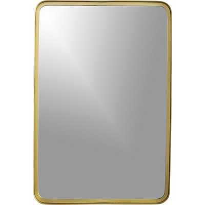 Croft brass wall mirror - CB2