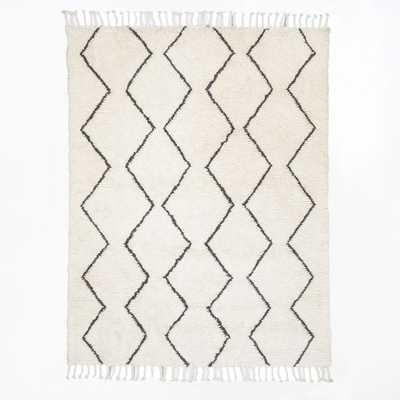 Souk Wool Rug - Ivory - 5' x 8' - West Elm