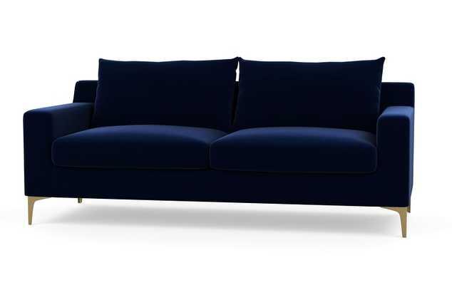"""SLOAN FABRIC SOFA - 83"""" Oxford Blue - Interior Define"""