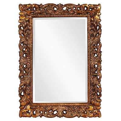 Howard Elliott Collection Barcelona Gold Rectangle Mirror - Bellacor