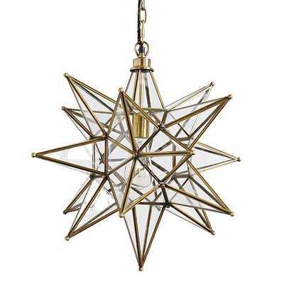 Moravian Star Pendant - Brass - Ballard Designs