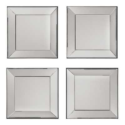 Decorative Square Wall Mirror - Set of 4 - Wayfair