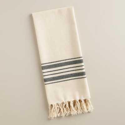 Black Villa Stripe Kitchen Towel - World Market/Cost Plus