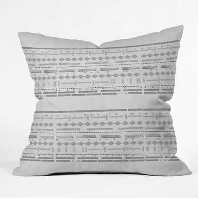 """STUDY IN GRAY VII Throw Pillow -18"""" x 18"""" - With Insert - Wander Print Co."""