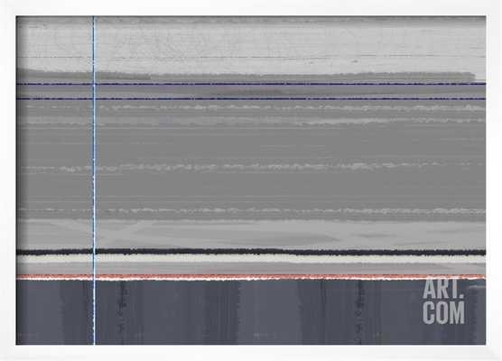 "ABSTRACT GREY - 24"" x 18"" - CHELSEA White Frame - No Mat - art.com"