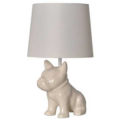 Bulldog Table Lamp White - Pillowfort™ - Target