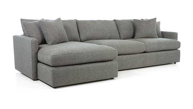 Lounge II 2-Piece Sectional Sofa - Steel - Crate and Barrel