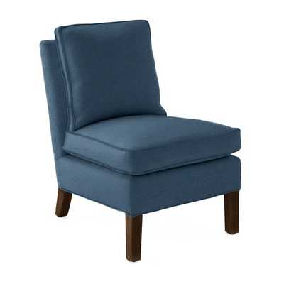 Watson Slipper Chair [Luxe Leather - Blue Moon] - Serena and Lily