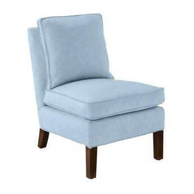 Watson Slipper Chair [fabric : Coastal Linen - Chambray] - Serena and Lily