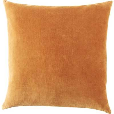 """leisure copper 23"""" pillow with Feather-down insert - CB2"""