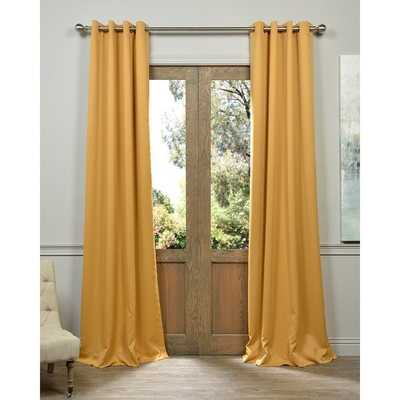 """Marigold Grommet Blackout Thermal Curtain Panel Pair - 96"""" - Overstock"""