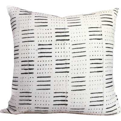 Dots and Dashes Print African Mud Cloth Pillow Cover - No insert - Wayfair