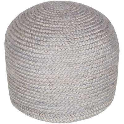 Tai Sphere Pouf Ottoman - Gray - Wayfair