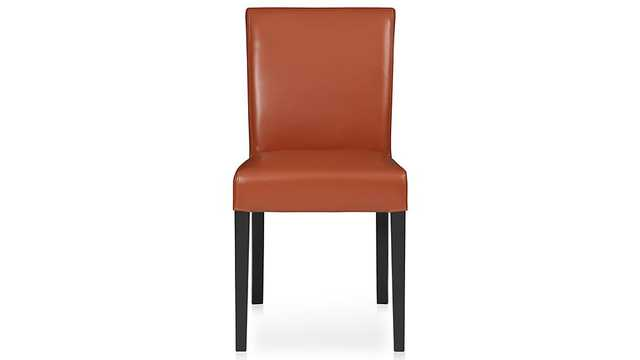 Lowe Persimmon Leather Dining Chair - Crate and Barrel