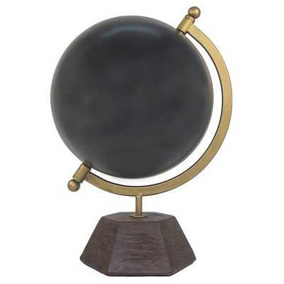 "Thresholdâ""¢ Decorative Globe with Cement Base - Black - Target"