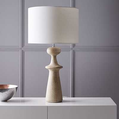 Turned Wood Table Lamp -Tall - Whitewash - West Elm