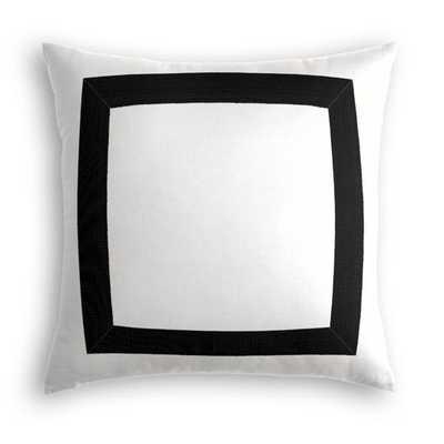 Pillow-Classic Linen Pure - White-22x22-poly fiber insert - Loom Decor