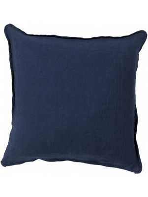 Sage Pillow - Dark Navy - Down Filled - Lulu and Georgia