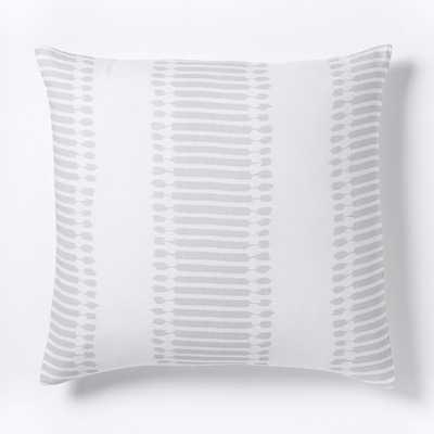 Belgian Flax Linen Ikat Stripe Sham - West Elm