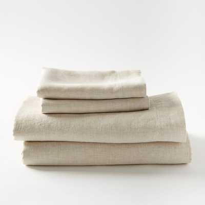 Belgian Linen Sheet Set - Queen - Natural Flax - West Elm